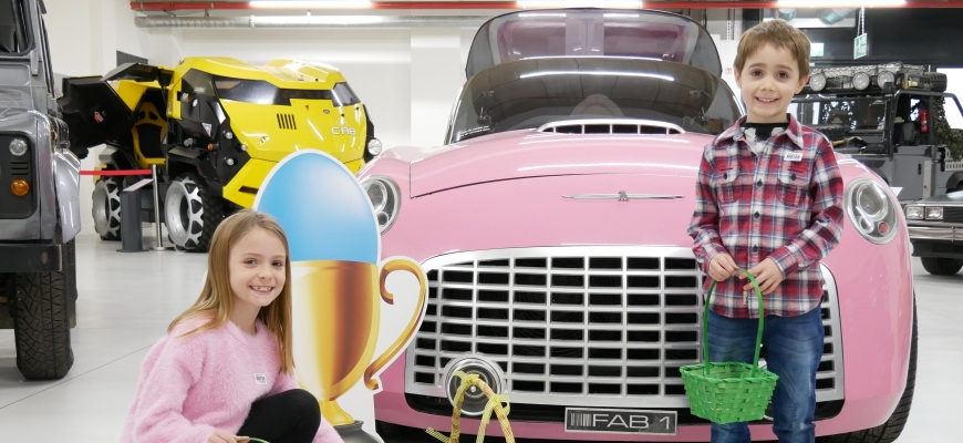 Easter egg hunt at the British Motor Museum