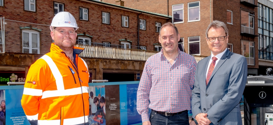 From the left, Tom Blackburn (Project Manager from DSM), Brian Harrabin (Director at Complex Development Projects) and Mike Evans (Deputy Director Estate Development at Coventry University)