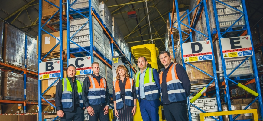 Pictured, from left to right, are Alan Mohomed (KB Transport Solutions), Ricky Davies (KB Transport Solutions), Charlotte Steele (KB Transport Solutions), James Davies (The Wigley Group) and Kevin Bennett (KB Transport Solutions). Photo taken pre-Coronavi