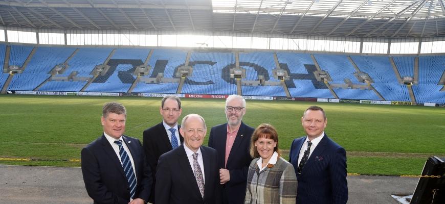 (left to right) Nic Erskine, Mike Platt, Les Ratcliffe, Stuart Cain, Minette Batters and Clint Wilson.