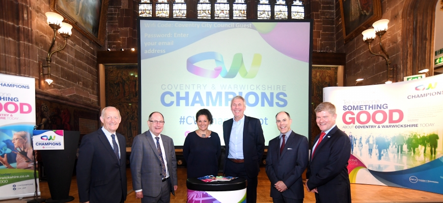 Picture caption: Pictured are Les Ratcliffe, Chris Gubbey, Chenine Bhathena, David Moorcroft, Marcus Lynch and Nic Erskine