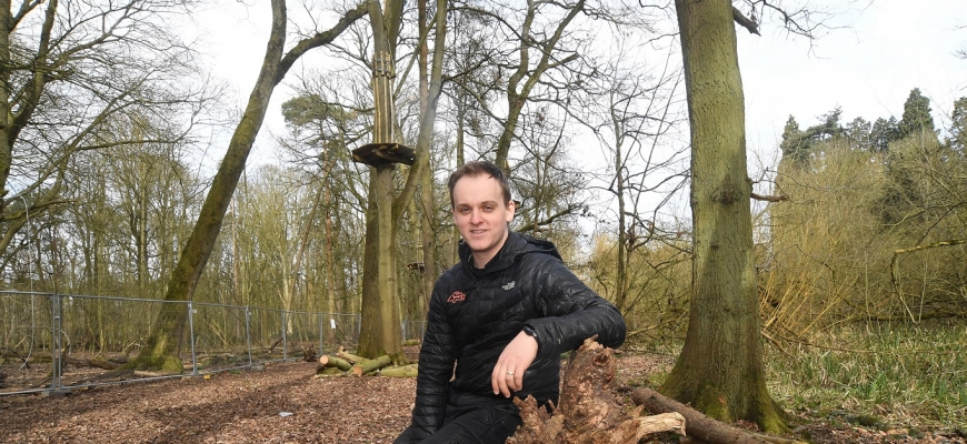 Luke Parker is the new manager of Go Ape at Coombe Abbey and is now recruiting for the new attraction.