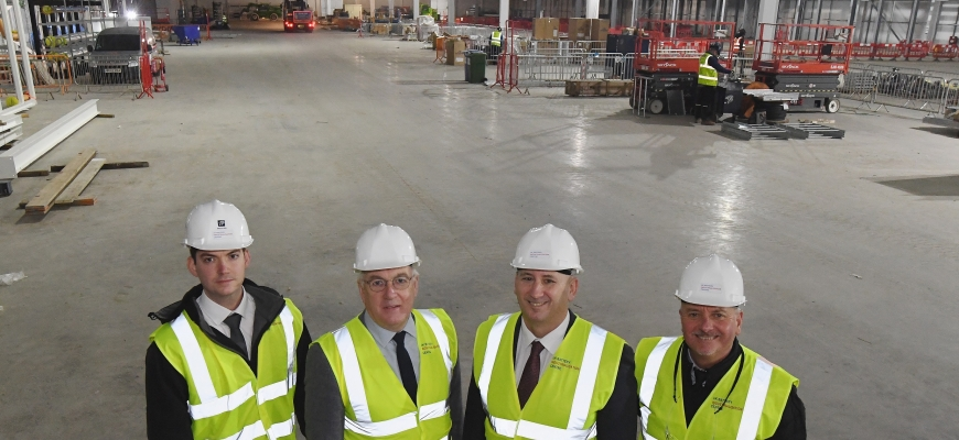 From the left, George Hull, Colin Mitchell, Jeff Pratt, Brendan McCarthy (all from UKBIC)