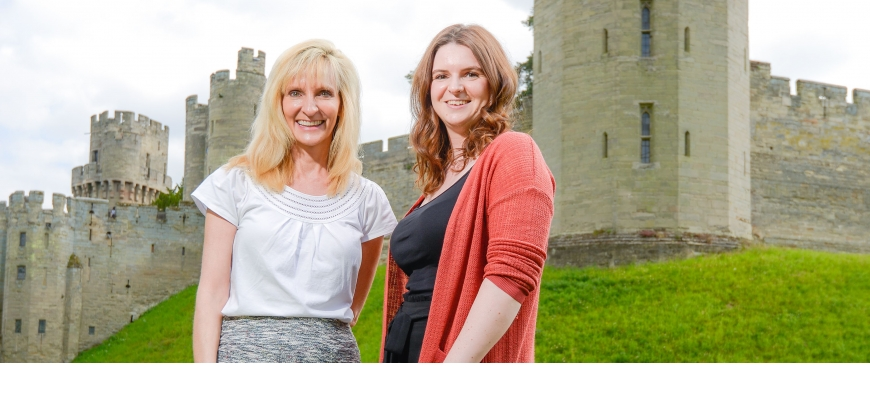 Janna Graber and Anneka Nicholls from Shakespeare's England.
