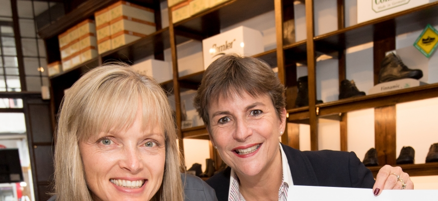 ShoeMed Owner Lisa Preston and Shakespeare's England CEO Helen Peters